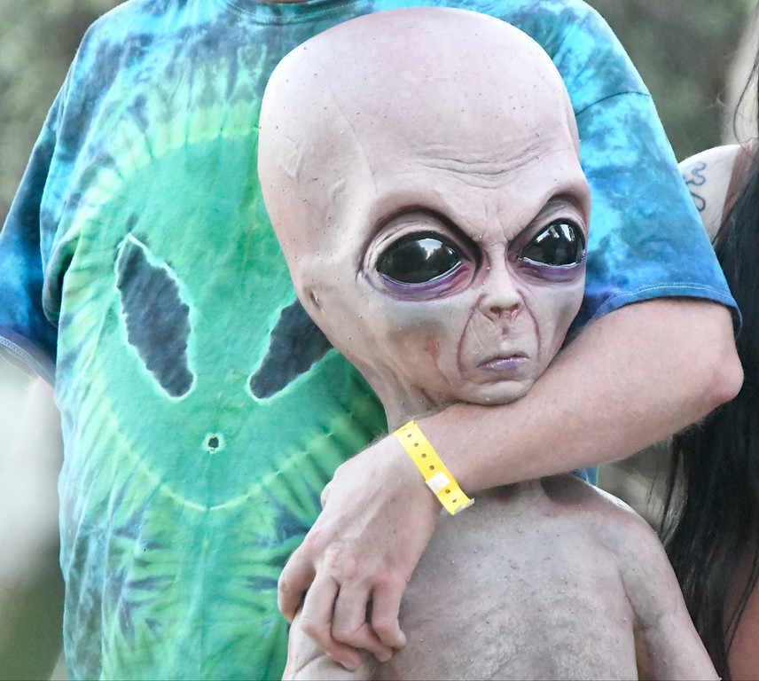 . May 20,2017. Twenty-nine Palms Ca. Ancient Aliens UFO fans attend 5th annual Contact in the Desert at the Joshua Tree Retreat Center Saturday. Over 3,000+ fans of the cable show History Channel\'s Ancient Aliens  came out for the 3 day event to see all the cast members of the show and other aliens type seminars. Photo by Gene Blevins/LA DailyNews/SCNG