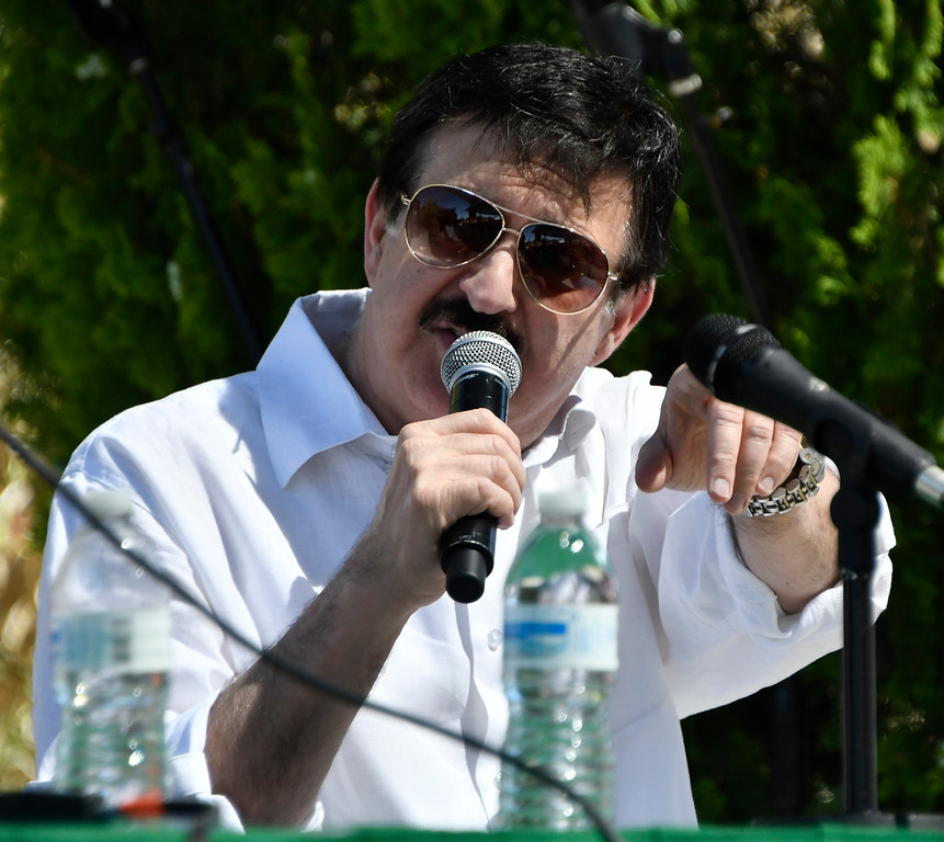 . May 20,2017. Twenty-nine Palms Ca. History Channel\'s Ancient Aliens theorist George Noory  during the 5th annual Contact in the Desert at the Joshua Tree Retreat Center Saturday. Over 3,000 UFO fans of the History Channel\'s  Ancient Aliens  came out for the 3 day event.  Photo by Gene Blevins/LA DailyNews/SCNG