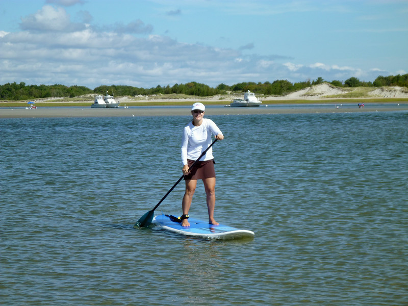 David: Paddle boarding really is easy.