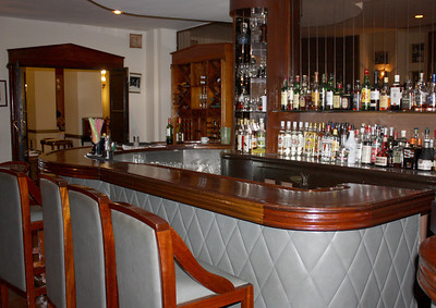 The bar at the hotel where Winston Churchill apparently hung out.