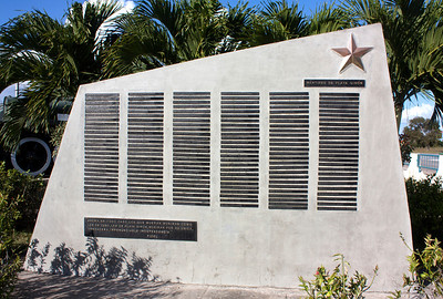 The wall with the list of martyrs outside the Bay of Pigs Museum, Playa Giron, Matanzas.