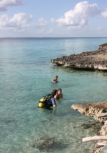 They were diving in the Carribbean, across from the cenote.