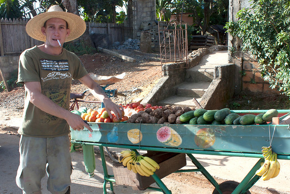 Can't get any fresher than this! They only eat seasonal vegetables and fruit in Cuba.