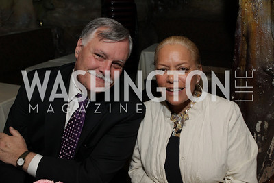Board member, NEA Foundation CEO Harriet Sanford, Andy Linebagh. DC Jazz Festival's Eliane Elias Performance at Bohemian Caverns. Photo by Alfredo Flores. April 7, 2011