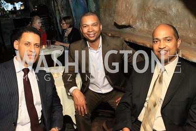 Board Member Tony Haywood, Terrence Thompson, Derek A. Porter. DC Jazz Festival's Eliane Elias Performance at Bohemian Caverns. Photo by Alfredo Flores. April 7, 2011