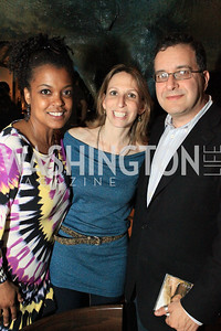 Executive Director Sunny Sumter, Michal Fishman, David Sheon. DC Jazz Festival's Eliane Elias Performance at Bohemian Caverns. Photo by Alfredo Flores. April 7, 2011