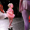 Evelyn Peterson, 4, talks to student company ballerinas after the School of Ballet Nouveau Colorado's Student Company's production of Coppelia at the Audi.<br /> May 12, 2010<br /> Staff photo/ David R. Jennings
