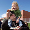 Dennett Marston shares a piece of pie with his daughter Maggie, 3,  during Mtn. View Elementary School's 30th anniversary celebration and fall festival.<br /> October 9, 2010<br /> staff photo/David R. Jennings