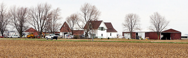 This farm on County Road 1700 North near 350 West is where investigators and crews worked throughout Wednesday to clear the remains of as many as 100 animals found dead on the property.