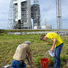 Michael helps Jeff Seibert setup a remote camera at Pad 37.