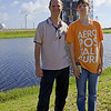 My son Michael and I in front of a Delta IV Medium rocket before tower rollback on May 23, 2013