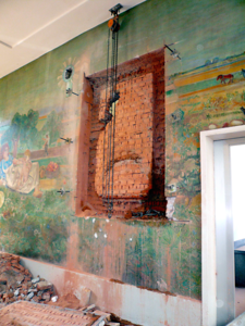 Hans Stocker Leere Wand nach der Abnahme 10  5  07