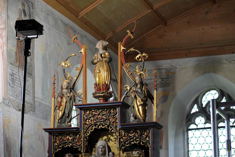 Galgenen, Kapelle St. Jost Anna Altar - Gesprenge AAF_0241_03-05-2011
