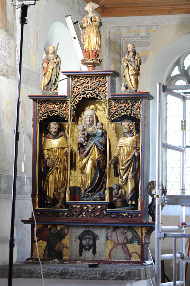 Galgenen, Kapelle St. Jost Anna Altar - Gesprenge AAF_0244_03-05-2011