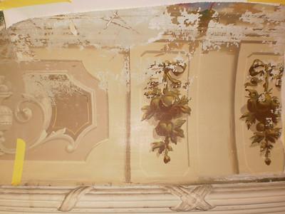 Decke Ecke S, Ablösen Calicot Nr. 10 PICT0062