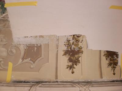 Decke Ecke S, Ablösen Calicot Nr. 7 PICT0059