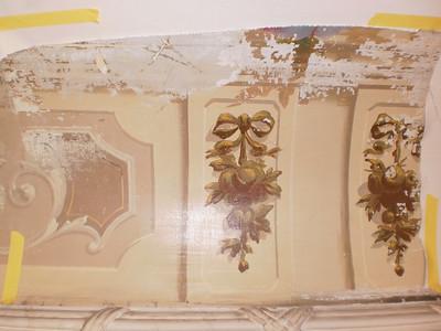 Decke Ecke S, Ablösen Calicot Nr. 11 PICT0063