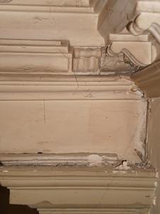 Ecke Kapitel über Pilaster P1/ Wintergarten DP1 Nordwand Vorzustand Sequenz 1 PICT0082