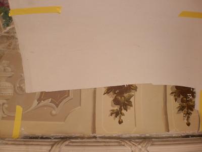 Decke Ecke S, Ablösen Calicot Nr. 5 PICT0057