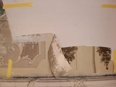 Decke Ecke S, Ablösen Calicot Nr. 6 PICT0058