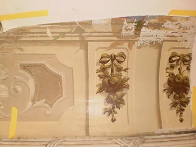 Decke Ecke S, Ablösen Calicot Nr. 13 PICT0067