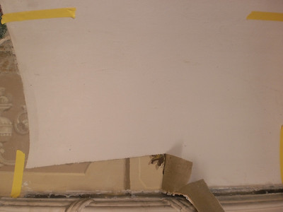Decke Ecke S, Ablösen Calicot Nr. 2 PICT0054