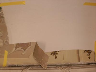 Decke Ecke S, Ablösen Calicot Nr. 4 PICT0056