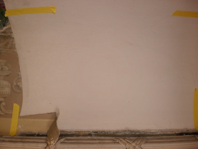 Decke Ecke S, Ablösen Calicot Nr. 1 PICT0053