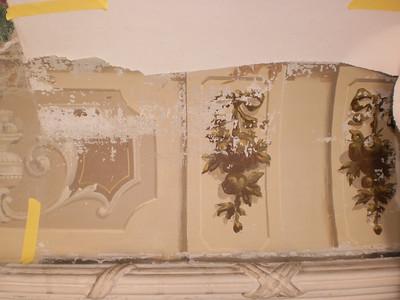 Decke Ecke S, Ablösen Calicot Nr. 8 PICT0060