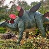 Dinosaurs roaming the gardens