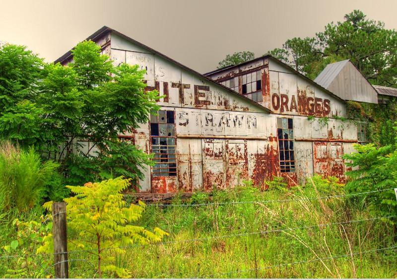 Abandoned orange juice plant near De Leon Springs