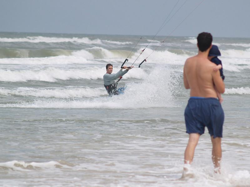 Kite surfing at New Symrna beach