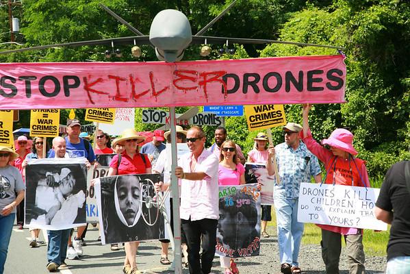 Drone Protest CIA Headquarters/6 Arrested June 29, 2013