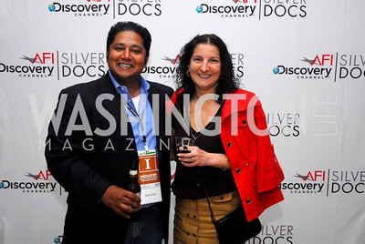 Sonny Sinha,Phyllis Serbes,ESPN Party at SilverDocs,June 24,2011,Kyle Samperton