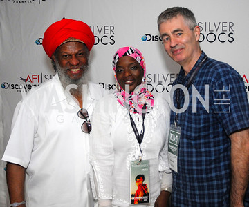 Shaykh Matthews,Ameena Matthews,Steve James,ESPN Party at SilverDocs,June 24,2011,Kyle Samperton