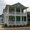 The Craven Plan by Allison Ramsey Architects built at East Beach in Norfolk, Virginia. This plan is 2182 Heated Square Feet, 4 Bedrooms and 3 1/2 Bathrooms. Carolina Inspirations, Book III, Pages 8-9, C0508.