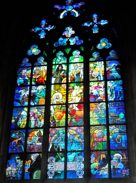 Stained glass - St. Vitus Cathedral
