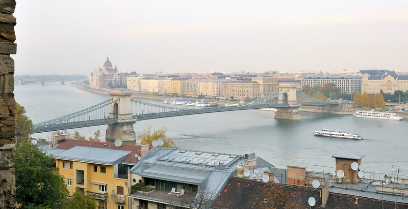 Lanchid bridge from Buda Castle