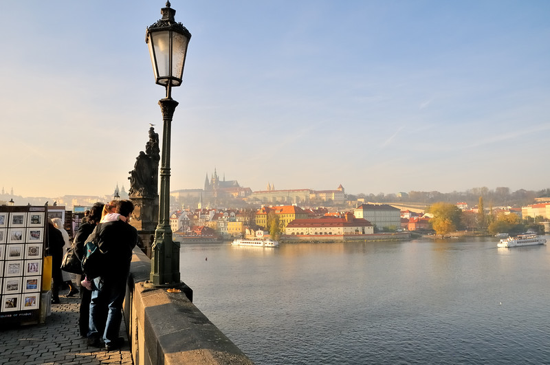 On the Charles Bridge over the Vitava River