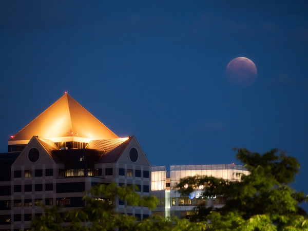 One Utah Center and Lunar Eclipse