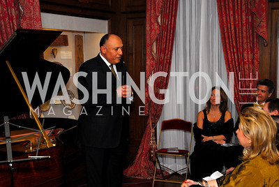 Sameh Shoukry,March 4,2011,Embassy Series at the Residence of the Egyptian Ambassador,Kyle Samperton