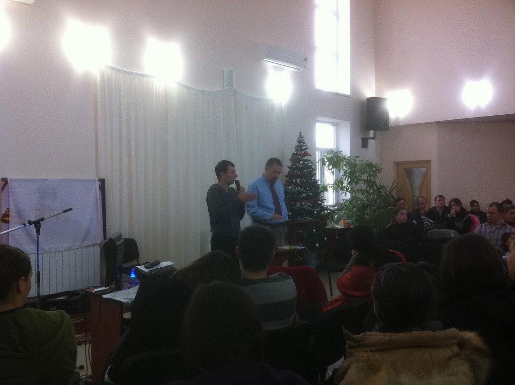 My first preaching experience came in Moldova. I shared from Matthew 1:22,23, the quotation of the prophecy from Isaiah from 7:14, Immanuel, God with us. Nicolae translated for me into Romanian.