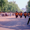 Parade of the Queen's Guard along the Mall - London, England
