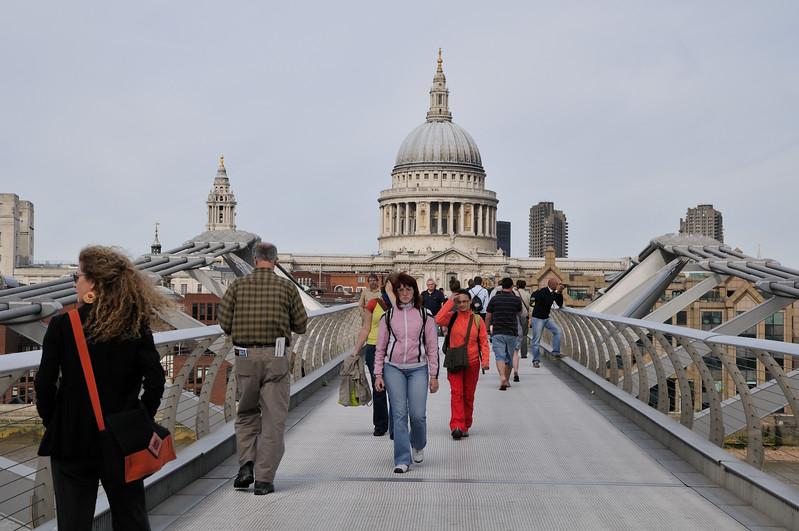 Millennium Bridge towards St. Pauls - London, England