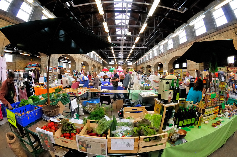 The market - Tavistock, England
