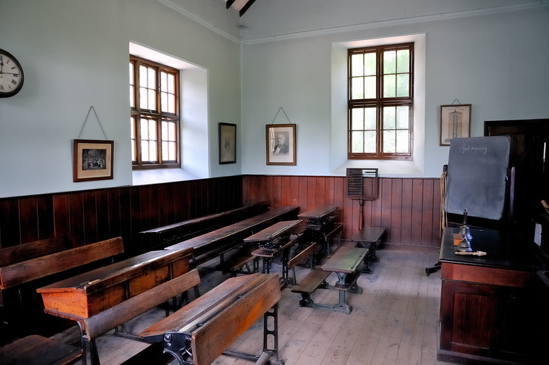 19th century Welsh schoolhouse - Museum of Welsh Life - Cardiff, Wales