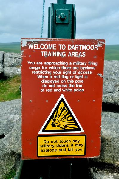 Ineffective warning - Great Mis - Dartmoor, England