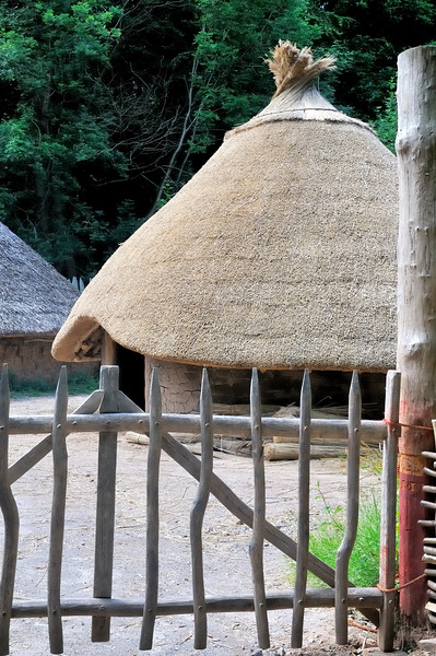Celtic village reproduction -  Museum of Welsh Life - Cardiff, Wales