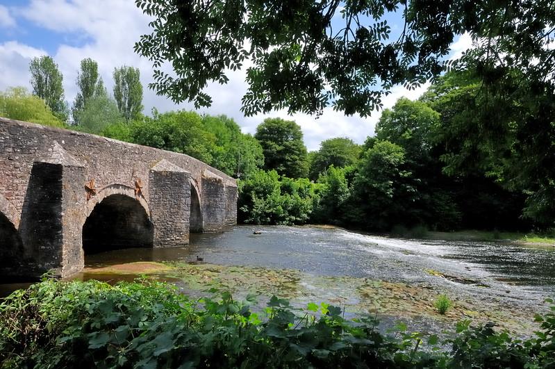 River Exe bridge - Exmoor, England