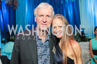 James Cameron, Suzy Amis Cameron. Photo by Alfredo Flores. Evening of Exploration. National Geographic Society. June 23, 2011